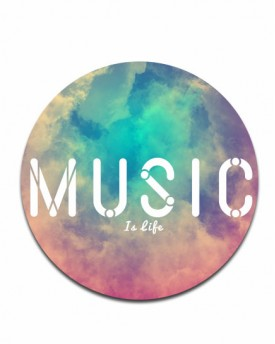 Music Is Life Disc Print