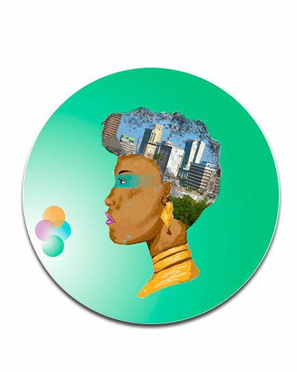 Nairobian Girl Disc Print