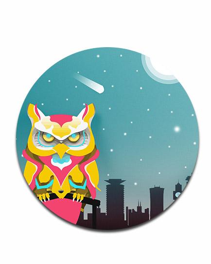 Nairobian Owl Disc Print